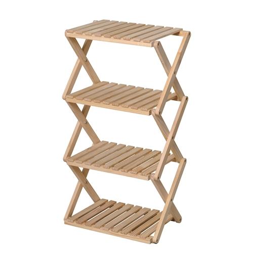 コーナンラック 折り畳み式木製ラック4段 LFX01−5821