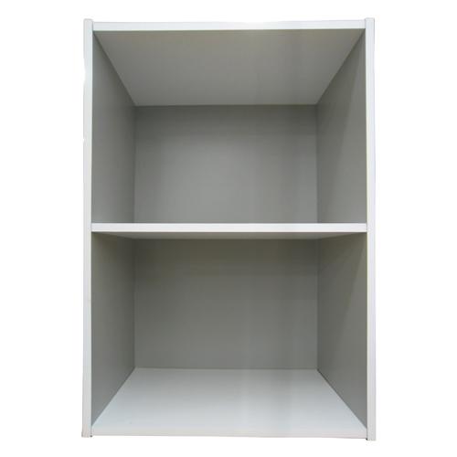2段カラーボックス グレー/ホワイト
