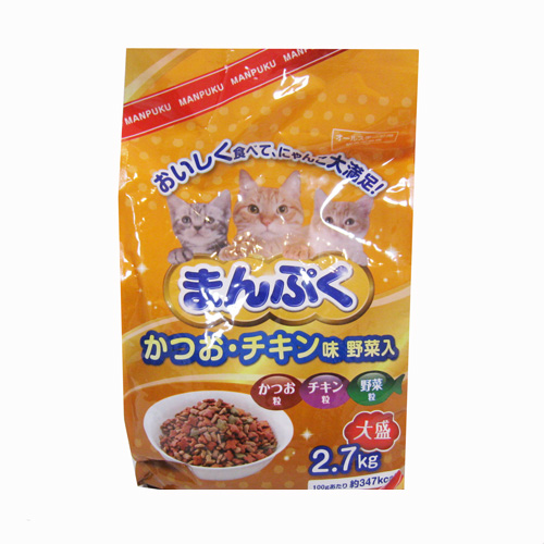 まんぷくドライかつお チキン味・野菜入 2.7kg