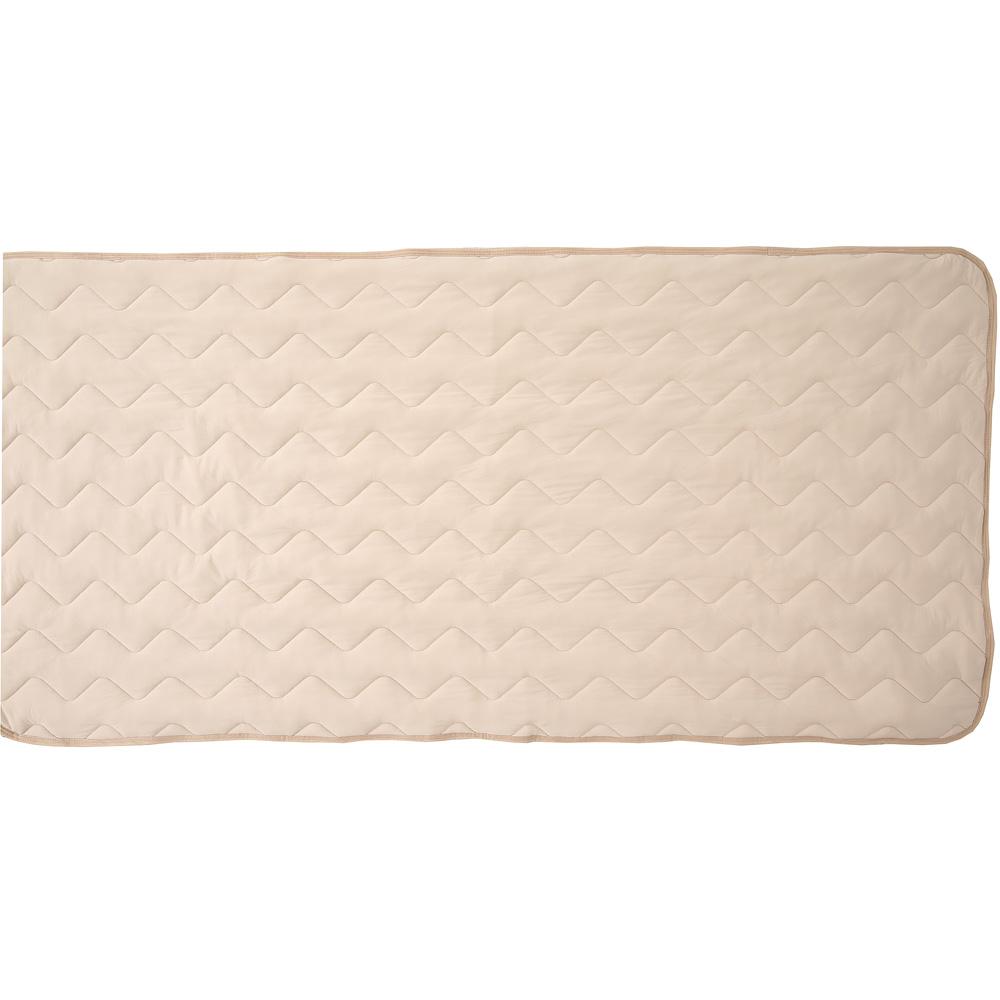 マシュマロひんやり敷きパッド 約100×205cm ベージュ