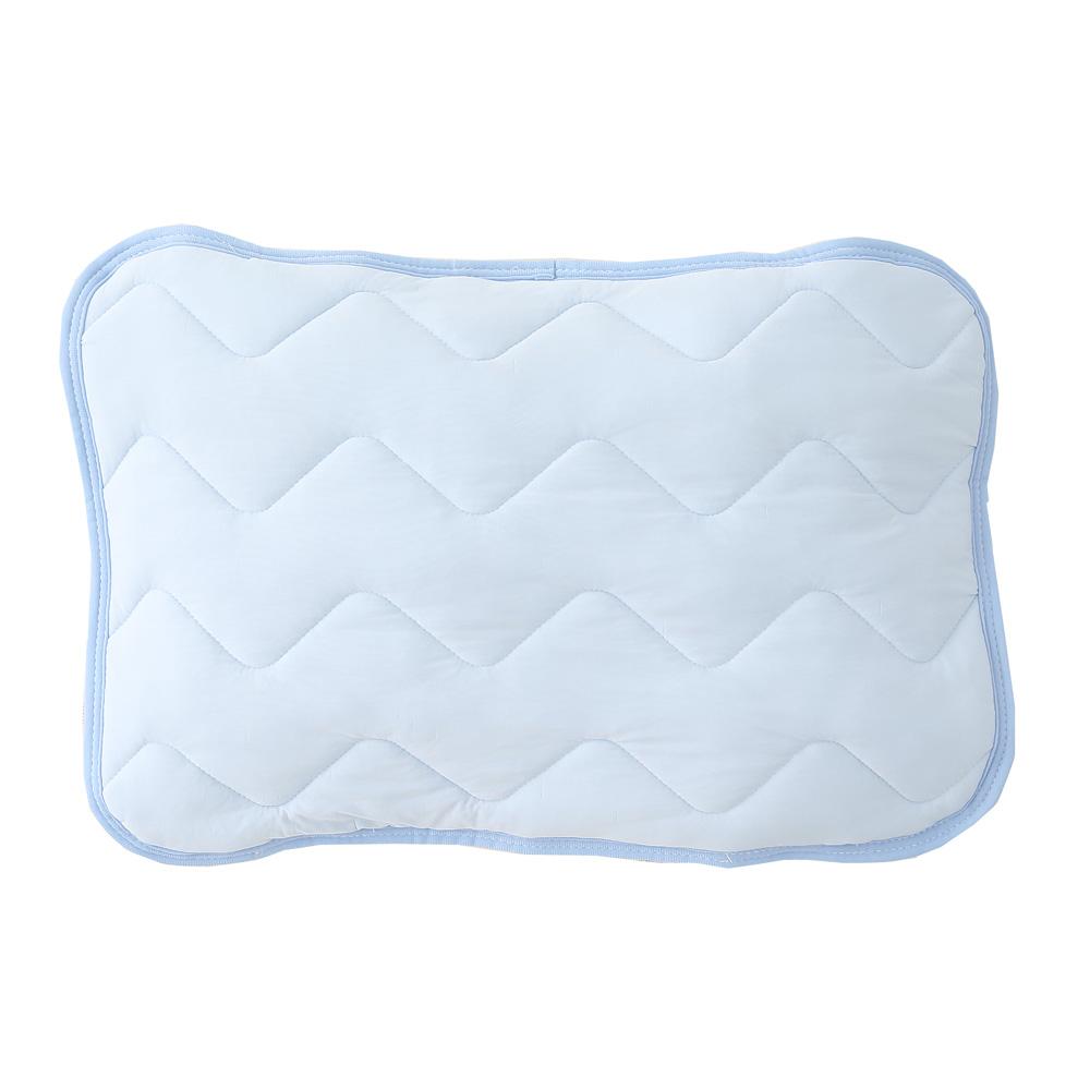 マシュマロひんやり枕パッド 約43×63cm ブルー