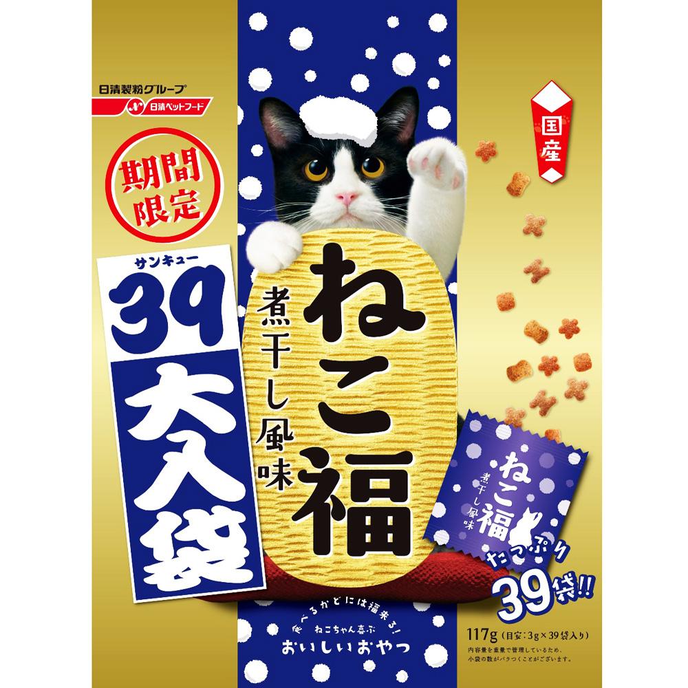 ねこ福 39大入り 煮干し風味 限定 3g×39袋
