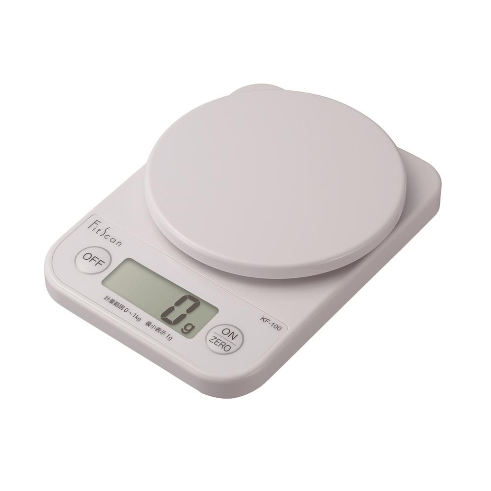 デジタルクッキングスケール ホワイト KF-100