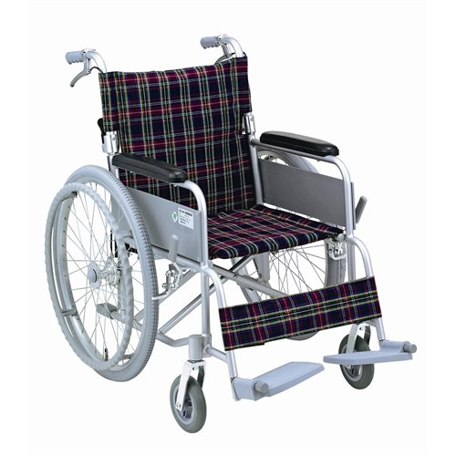 車椅子ハンドブレーキ付き背折れタイプ B−30