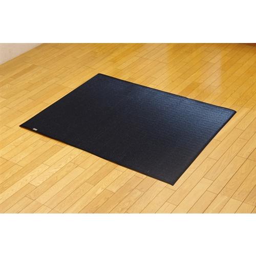 純国産 無地カラーい草ラグカーペット 『Fプラード』 ブラック 95×130cm