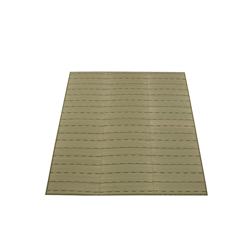 い草ふっくらラグ約180×180cm グリーン