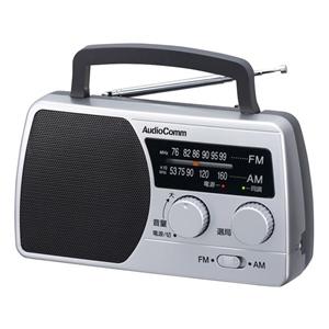 Audio Comm AM/FM ポータブルラジオ T410 RAD-T410N