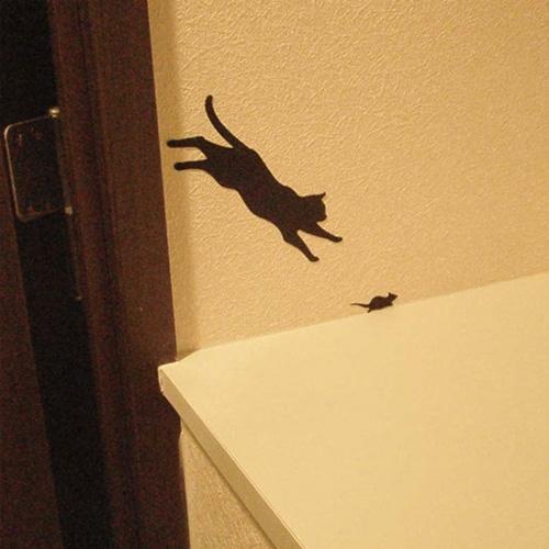 ウォールステッカー CAT�Kジャンプ