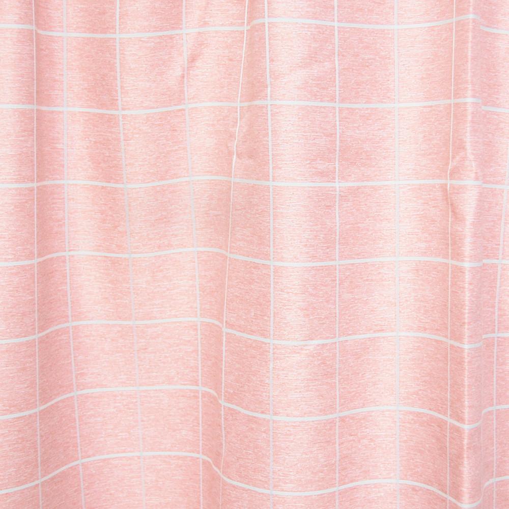 コーナン オリジナル 遮光性カーテン 「チェック」 ピンク 2枚組 約幅100×丈100cm