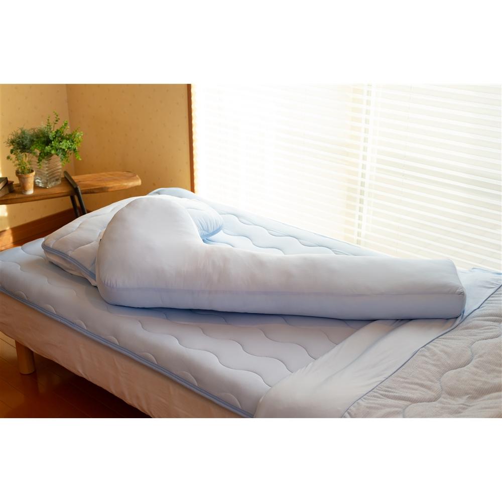 コーナン オリジナル ひんやりP型抱き枕 約45×115cm ブルー