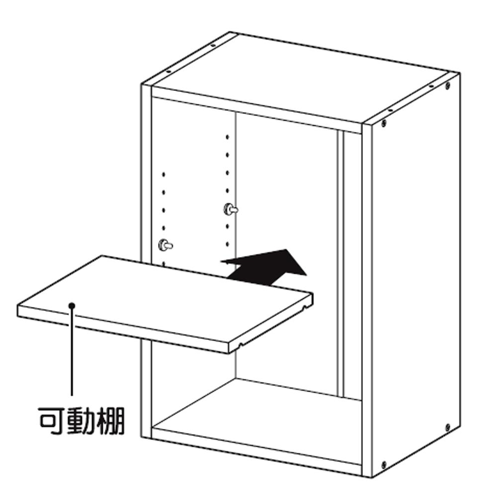 コーナン オリジナル 2段カラーボックス可動棚 DBR ダークブラウン