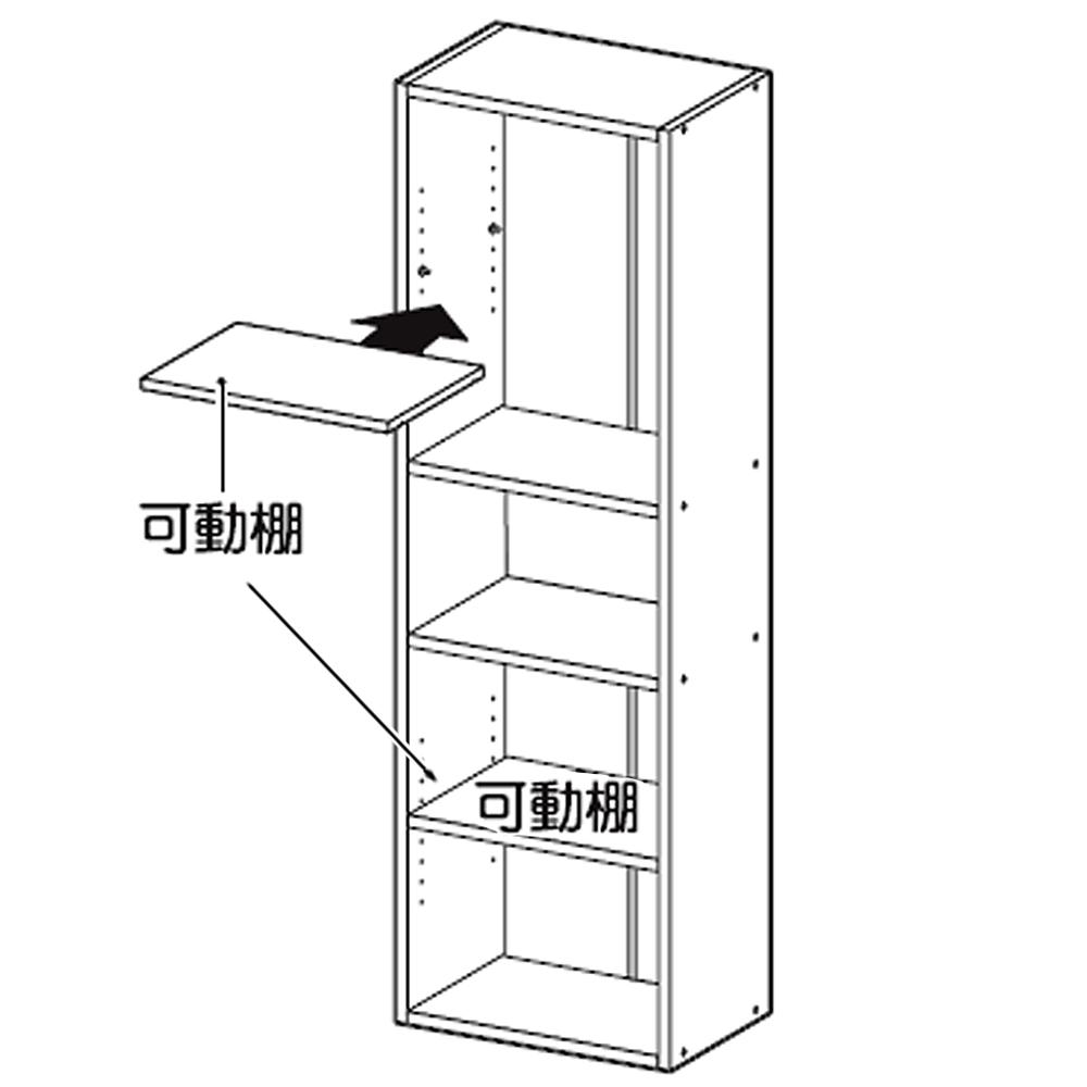 【 めちゃ早便 】コーナン オリジナル 5段カラーボックス可動棚 WWH ウッドホワイト