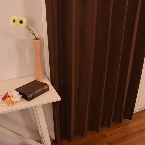 厚地カーテン セレスト 2枚組 幅100×高さ200cm ブラウン