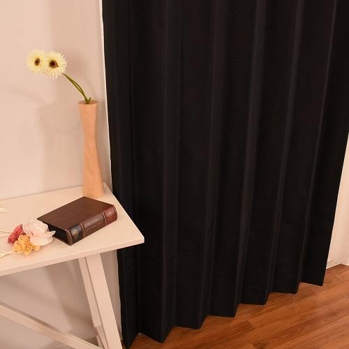 厚地カーテン セレスト 2枚組 幅100×高さ178cm ブラック