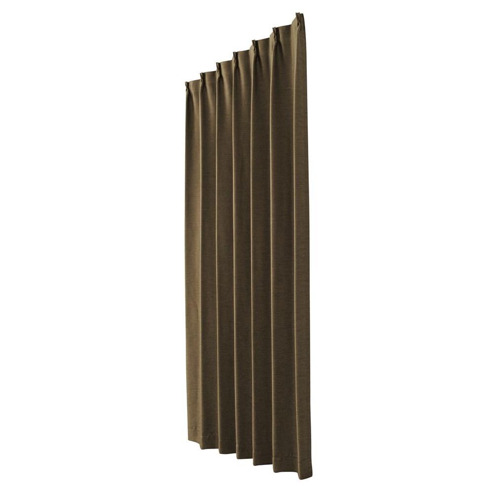 カーテン アトム 2枚組 幅100×高さ200cm 2枚組  ブラウン