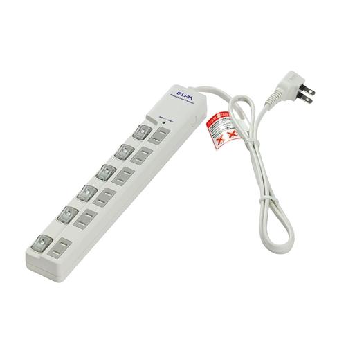 ELPAスイッチ付タップ 1M WLS−LU610MB(W) ホワイト