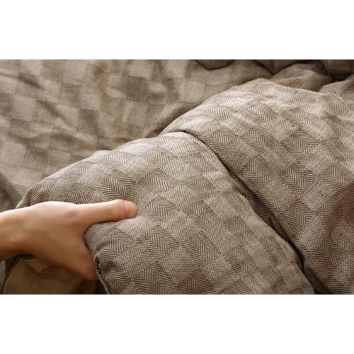 イケヒコ・コーポレーション(IKEHIKO)  インド綿 こたつ厚掛け布団単品 『クレタ』 ベージュ 205×205cm