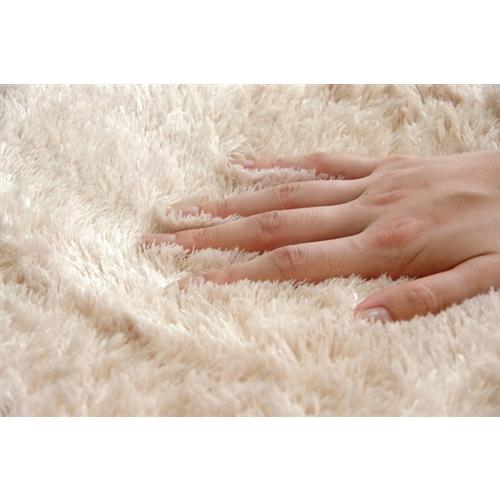イケヒコ・コーポレーション(IKEHIKO)  シャギー調 選べる7色 無地ラグ 長方形大 『ラルジュ』 アイボリー 200×300cm