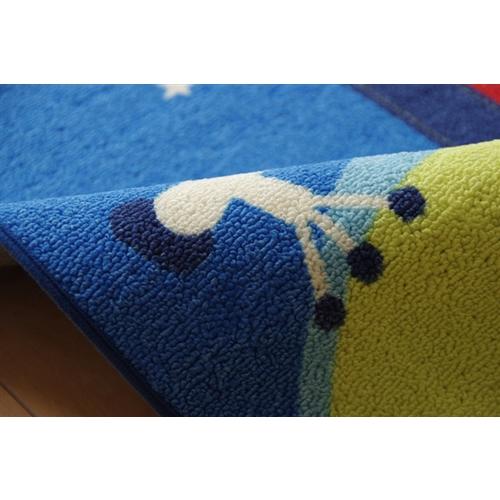 イケヒコ・コーポレーション(IKEHIKO)  デスクカーペット 男の子 宇宙柄 『スペース』 ブルー 133×170cm