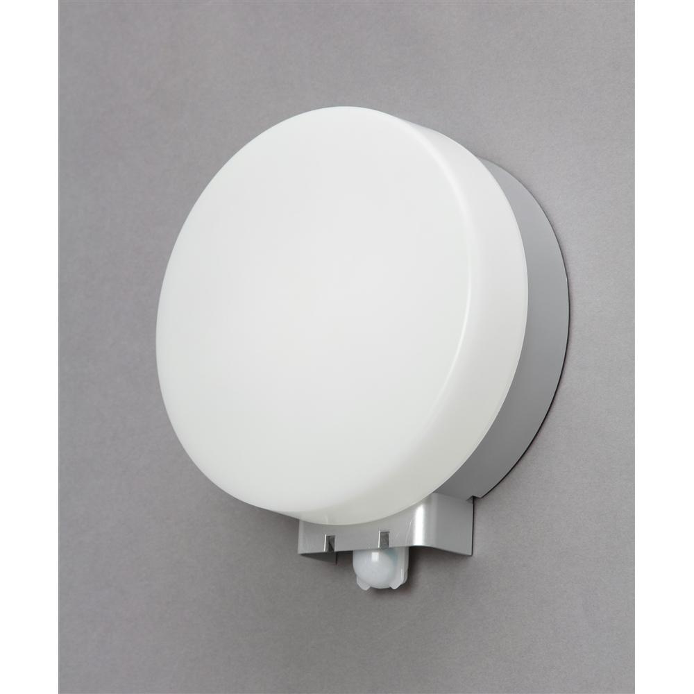アイリスオーヤマ(IRIS OHYAMA) LEDポーチ灯センサー付円型電球色500lm IRBR5L−CIPLS−MSBS