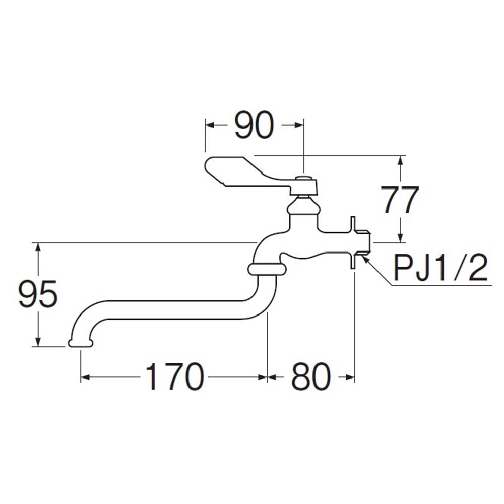 SANEI 節水レバー自在水栓(寒冷地)JA130K-13