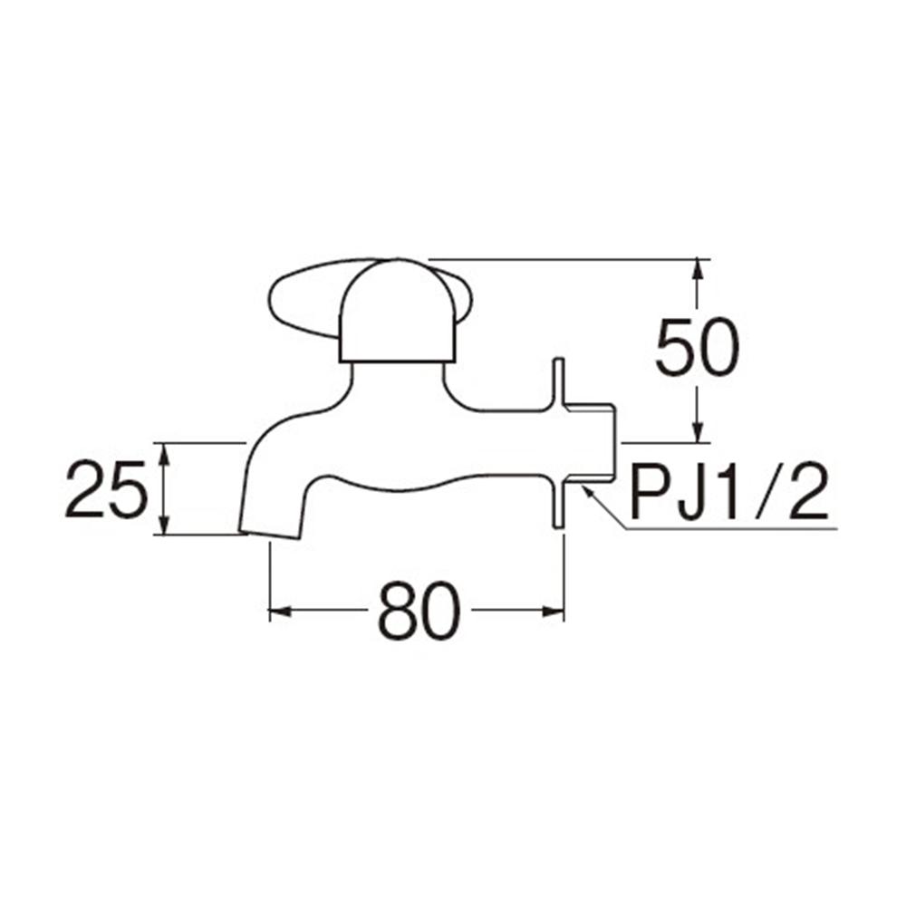 SANEI ミニセラ横水栓JY105-13