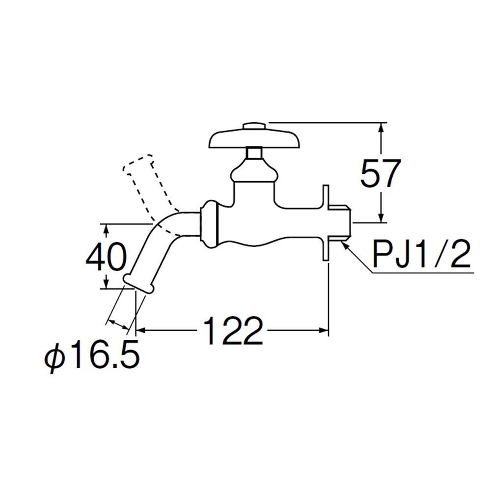 SANEI 万能ホーム水栓(寒冷地用)JY12EK-13