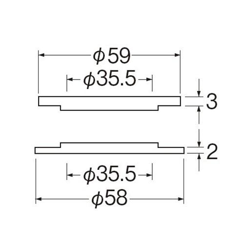 SANEI 水栓穴変換アダプターPR5360-L