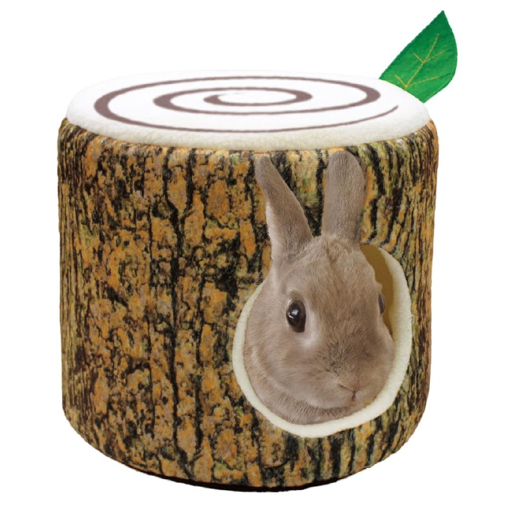 ウサギのふわふわ 切り株ベッド
