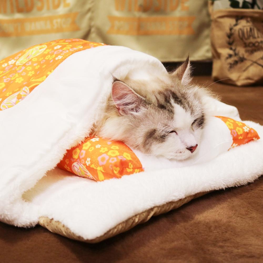 和にゃんこびより おふとん てまり 猫専用マット