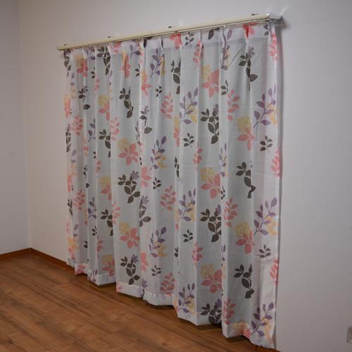 コーナン オリジナル カーテンフランド ピンク 4枚組 約幅100×丈178cm