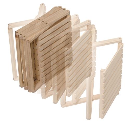 コーナン オリジナル コーナンラック 折り畳み式木製ラック4段 ワイドタイプ