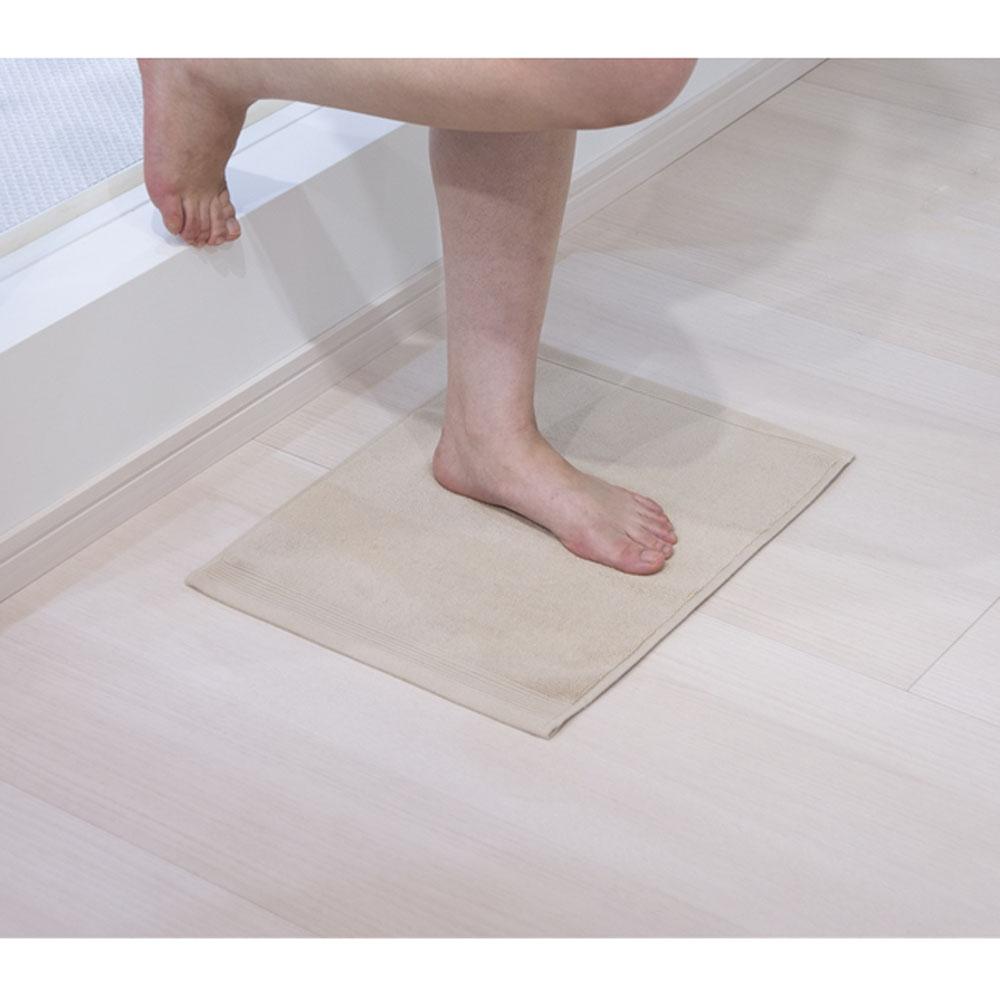 コーナン オリジナル タオルバスマット ベージュ 約34×45cm