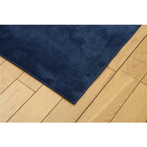 イケヒコ・コーポレーション(IKEHIKO)  ラグ カーペット 3畳 洗える 無地 『イーズ』 ネイビー 約185×240cm 裏:すべりにくい加工 (ホットカーペット対応)