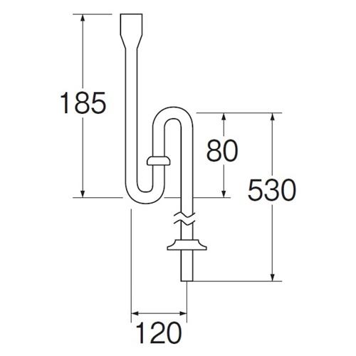 SANEI PCワン付SトラップPH701-1-25