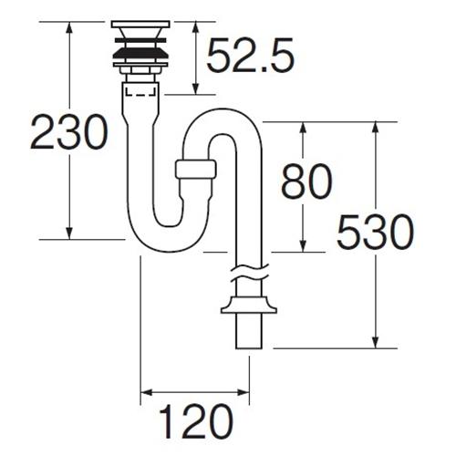 三栄水栓(SANーEI) PCSトラップ PH741−25