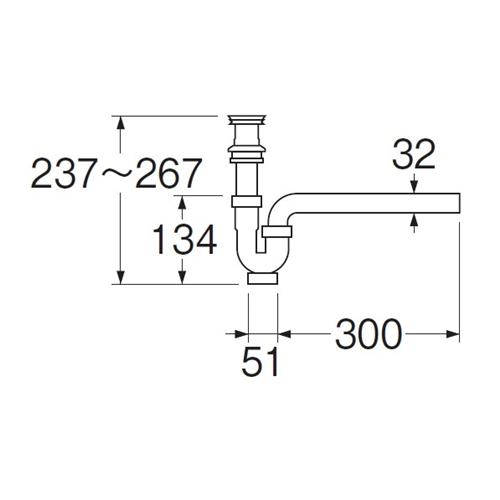 三栄水栓(SANーEI) 排水栓付Pトラップ PH779−32