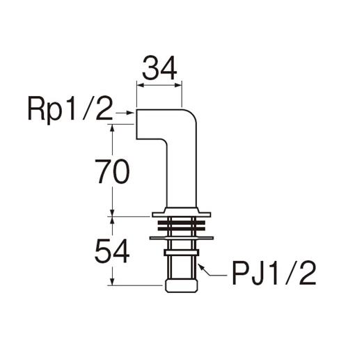 SANEI 水栓取付脚LPT260-13