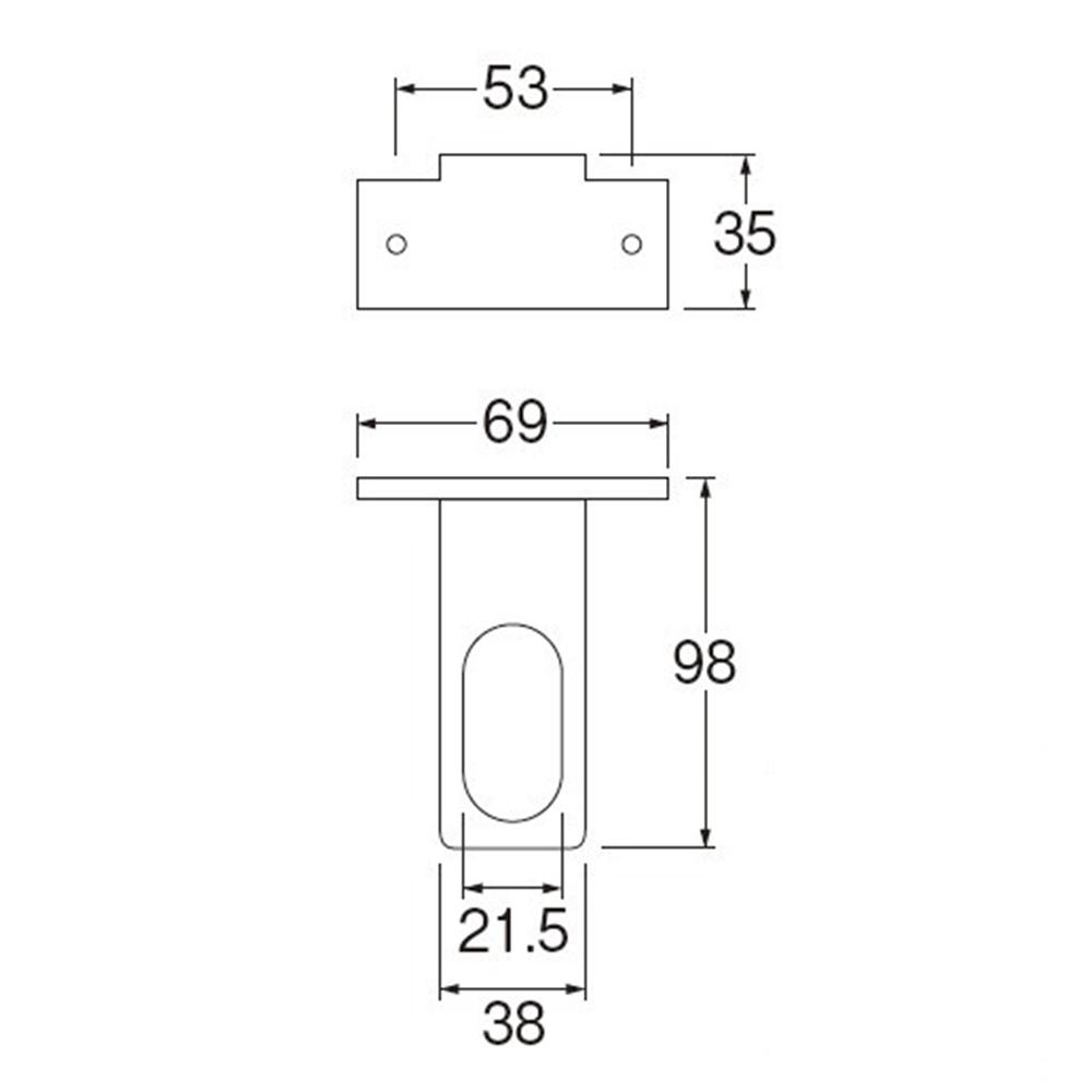 三栄水栓(SANーEI) 【止水栓用金具】 止水栓ブラケット L R641T-L