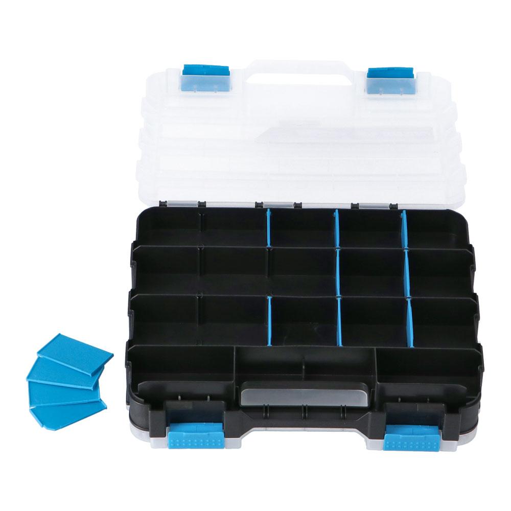 ☆☆ コーナン オリジナル 両面 パーツケース ブルー WPAME-706 サイズ:約幅320×奥行270×高さ80mm