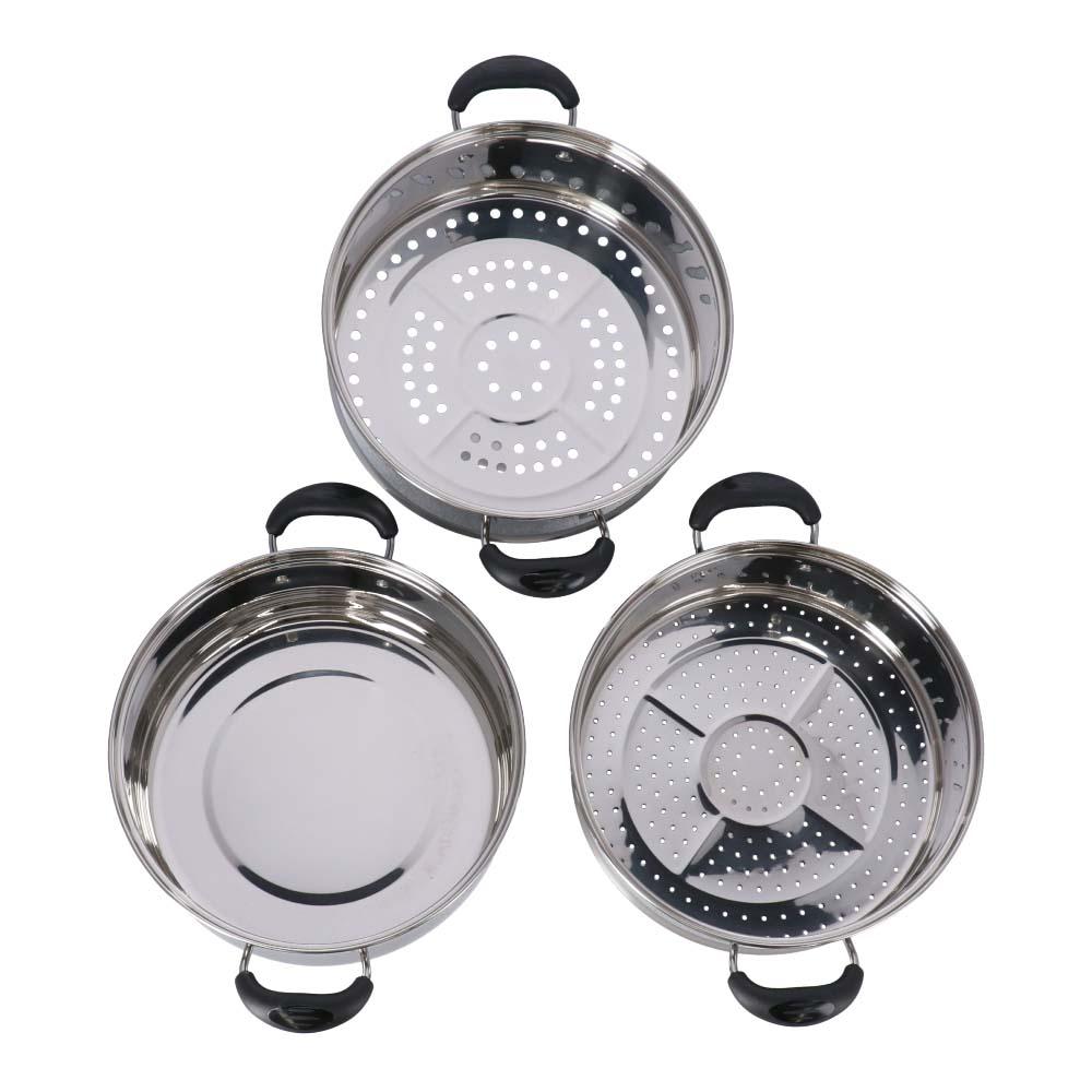 コーナン オリジナル 直火3段蒸し鍋 26cm KHM05−2037