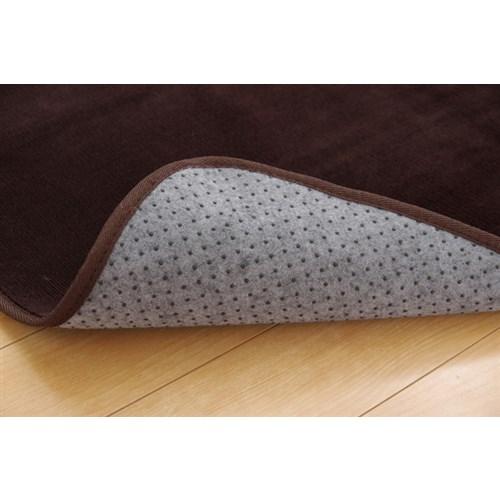 イケヒコ・コーポレーション(IKEHIKO)  ラグ カーペット 1.5畳 洗える 抗菌 防臭 無地 『ピオニー』 ブラウン 約130×185cm (ホットカーペット対応)