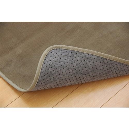 イケヒコ・コーポレーション(IKEHIKO)  ラグ カーペット 3畳 洗える 抗菌 防臭 無地 『ピオニー』 ベージュ 約200×250cm (ホットカーペット対応)