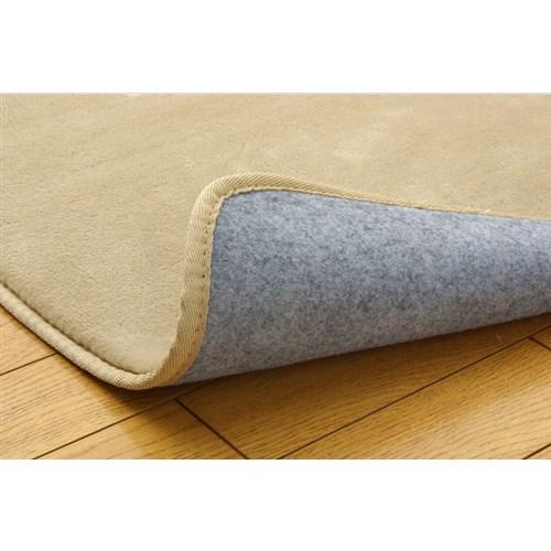 イケヒコ・コーポレーション(IKEHIKO)  ラグ カーペット 3畳 無地 フランネル 『フランアイズ』 ベージュ 約200×250cm(ホットカーペット対応)