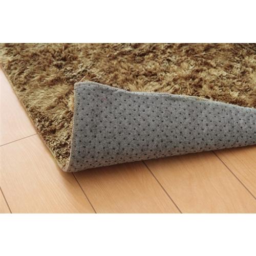 イケヒコ・コーポレーション(IKEHIKO)  シャギー調 選べる7色 無地ラグ 長方形 『ラルジュ』 ベージュ 200×250cm