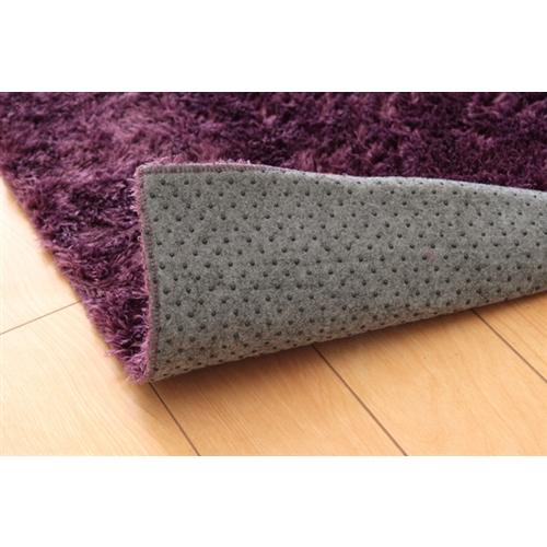 イケヒコ・コーポレーション(IKEHIKO)  シャギー調 選べる7色 無地ラグ 長方形 『ラルジュ』 パープル 200×250cm