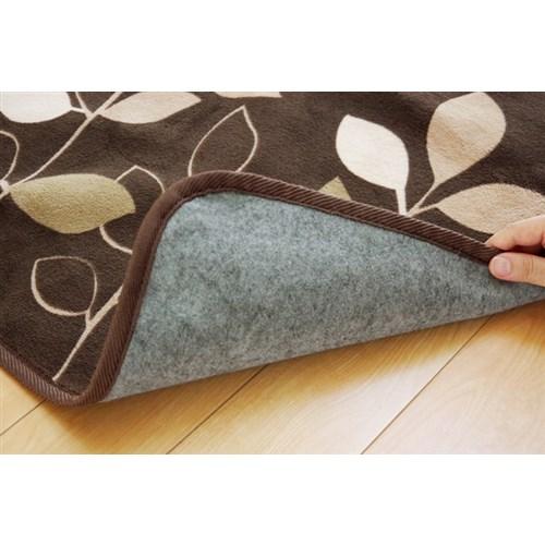 イケヒコ・コーポレーション(IKEHIKO)  リーフ柄 ラグ 長方形 『マレッサ』 ブラウン 約200×250cm