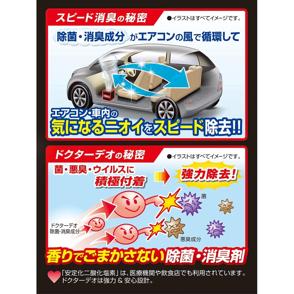 カーメイト 車用 消臭剤 ドクターデオプレミアム スチーム 循環タイプ 使い切り  無香 安定化二酸化塩素 ミニバン・大型車用 55ml D235