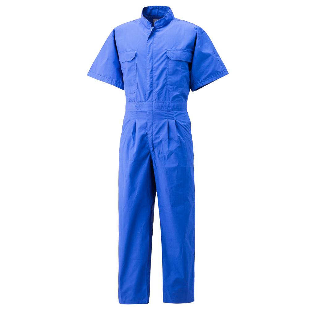 コーコス信岡(CO-COS) 半袖メッシュつなぎ 782 L ブルー