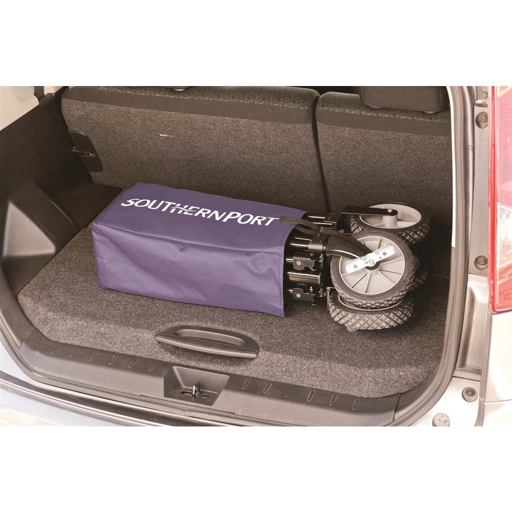 コーナン オリジナル キャリーワゴン ブルー(前輪ブレーキ付き) 約幅900X奥行470X高さ540mm(使用時)